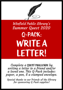 Q Pack- Write a Letter!